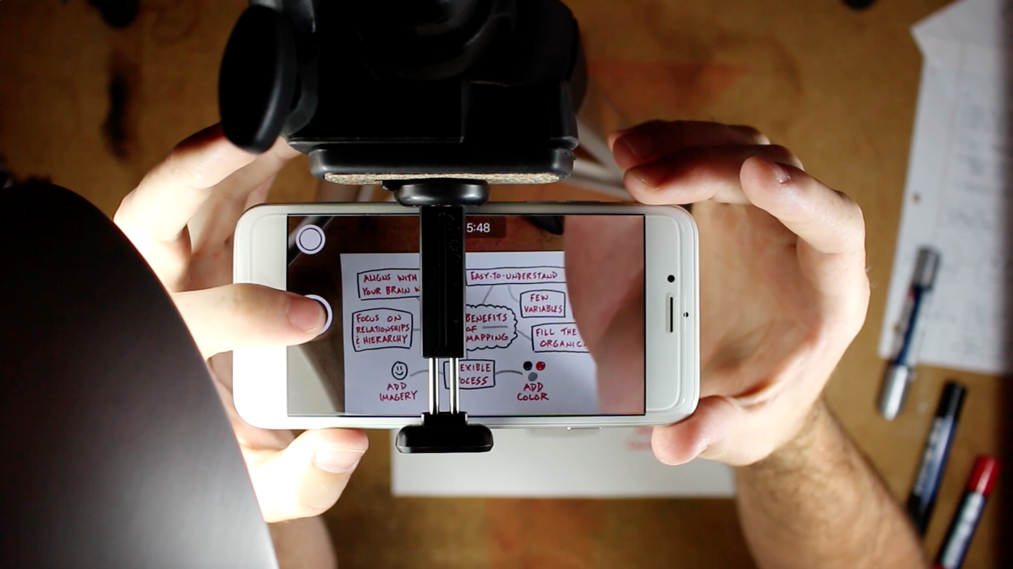 Sketchnote iPhone Video - Pens